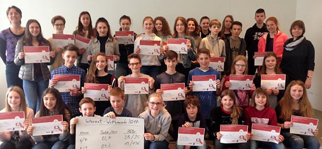 Auszeichnungen der Teilnehmer am französischen Internetwettbewerb
