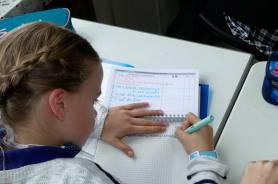 Im Schulplaner werden Lernaufgaben notiert