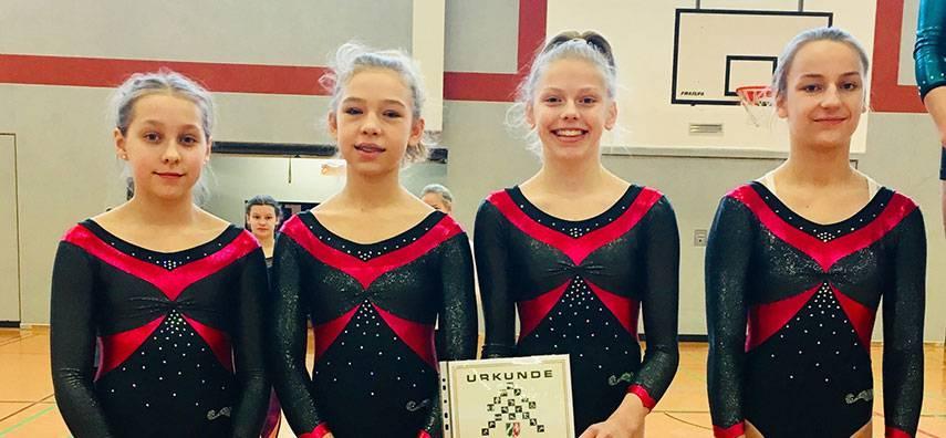 Turnerinnen des FvSG erreichen den 3. Platz bei den Bezirksmeisterschaften