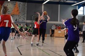 Sport spielt eine große Rolle bei uns - beim Basketball...