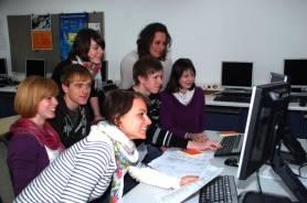 Schüler in einem der Computerräume