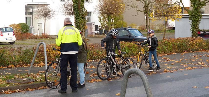 Praktische Prüfung für den Fahrradführerschein