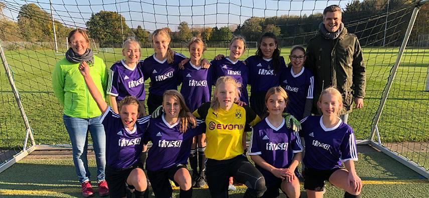 Erfolg für das Mädchenfußballteam