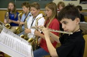 Schüler im Musikunterricht